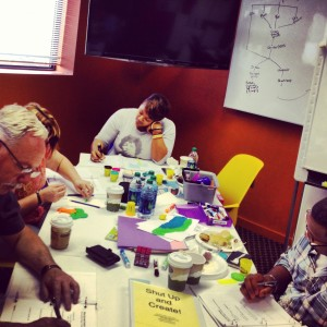 Students at Donna Ladd's Shut Up and Create all-day workshop in downtown Jackson.